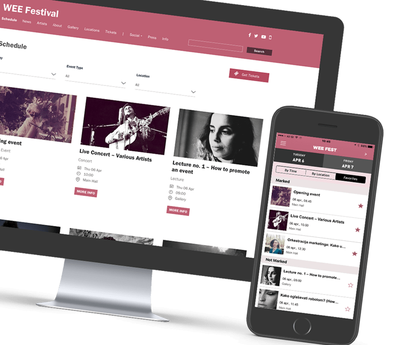 BMA EVENT Mobile platform